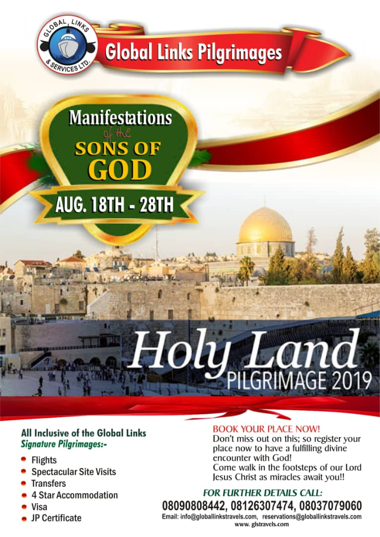 ISRAEL PILGRIMAGE 2019!! MANIFESTATIONS OF THE SONS OF GOD!
