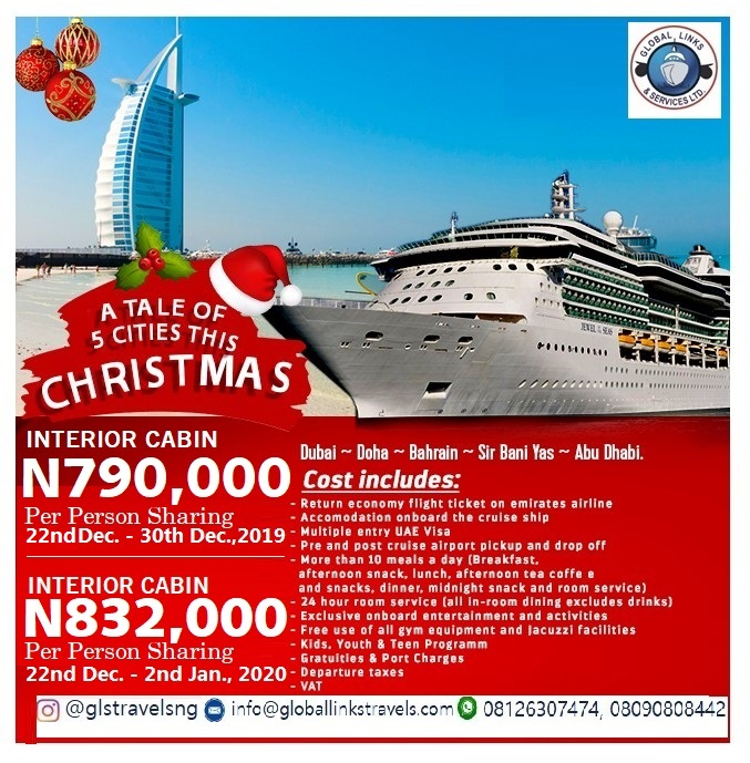 CRUISE – SAIL ACROSS & EXPERIENCE  5 EXOTIC ARABIAN CITIES THIS DECEMBER & INTO THE NEW YEAR
